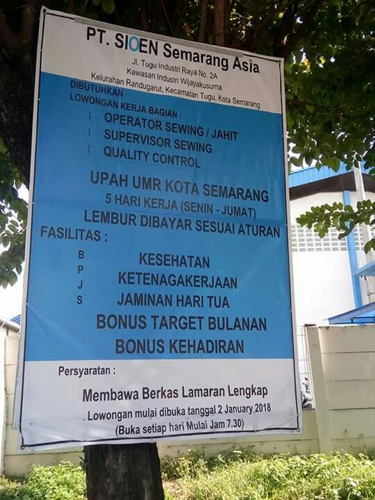 Lowongan Kerja Pabrik Di Semarang